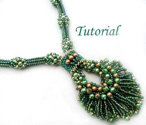 Beading Tutorial Peacock Necklace by Ellad2