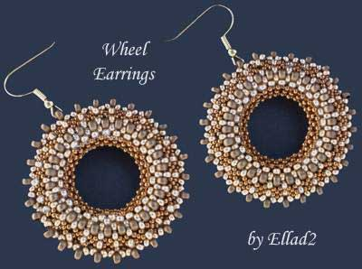 Beading Tutorial Wheel Earrings by Ellad2