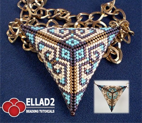 Beading Tutorial Triangle Pendant peyote stitch