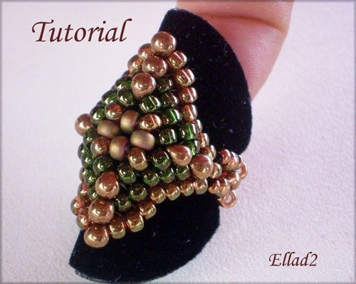 Beading Tutorial Diamond Shaped Ring