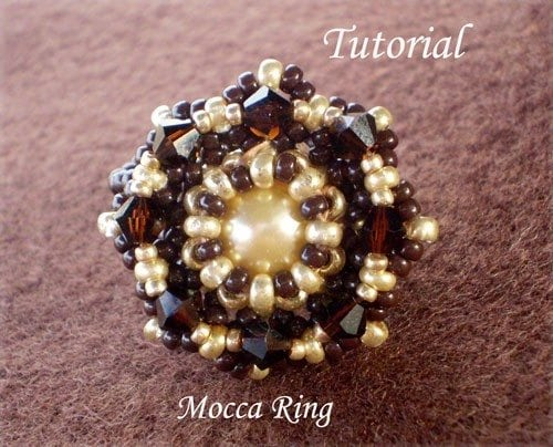 Beading Tutorial Mocca Ring