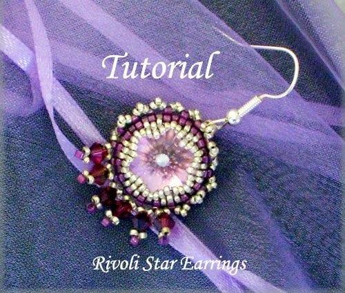 Beading tutorial Rivoli-Star-Earrings
