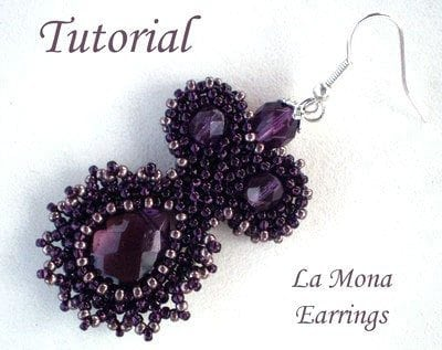 Beading Tutorial La Mona Earrings