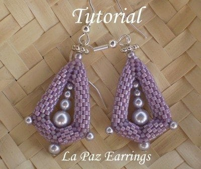 Beading Tutorial La Paz Earrings