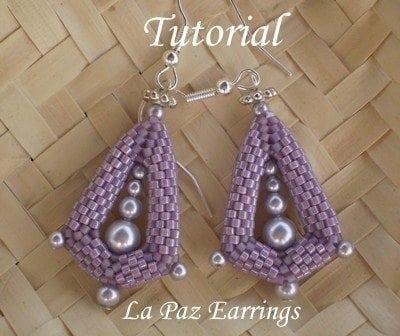 Beading Tutorial La Paz Earrings