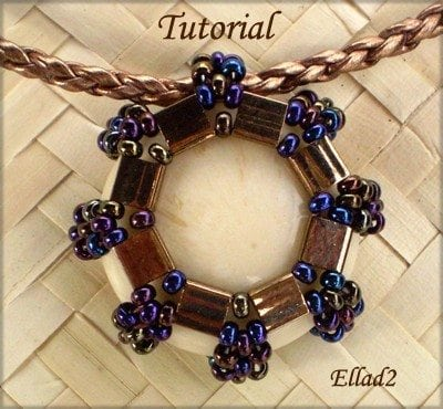 Beading Tutorial Tila pendant or Earrings