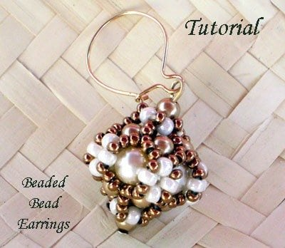 Tutorial Beaded Bead Earrings