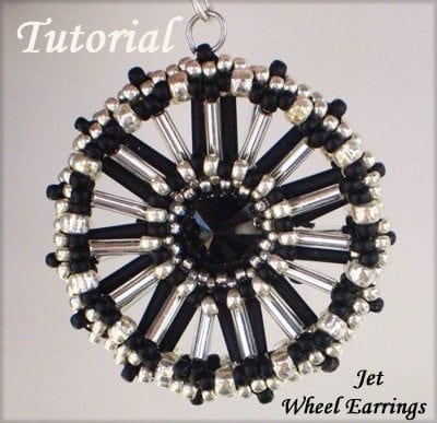 Beading Tutorial Jet Wheel Earrings