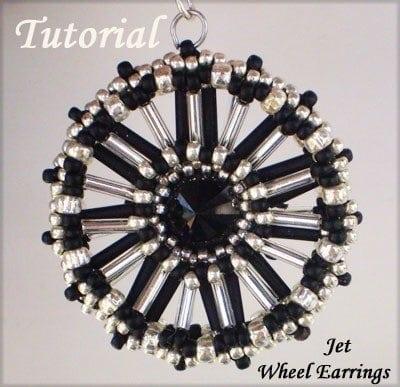 Beading Tutorial Jet Wheel Earrings