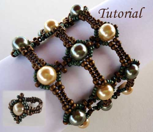 Beading-Tutorial-Pearly-Lace-Bracelet-and-Ring-by-ellad2