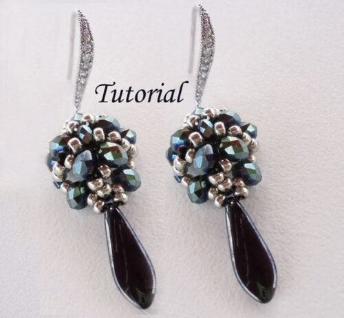 Beading Tutorial Faceted Blue Earrings