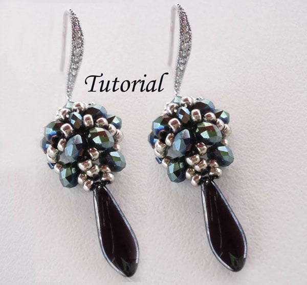Beading Tutorial Faceted Blue Earrings
