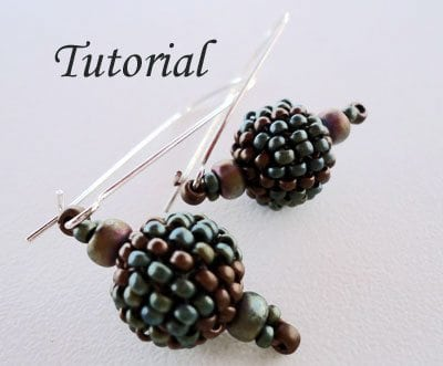 Beading Tutorial Beaded Bead Earrings III
