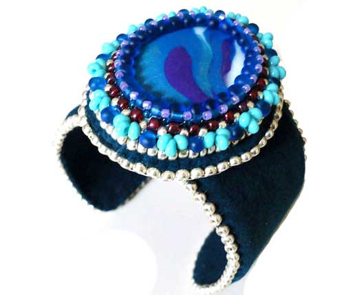 Mermaid bead embroidery cuff beading tutorials and