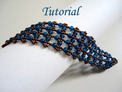 Beading Tutorial Capri Blue Bracelet