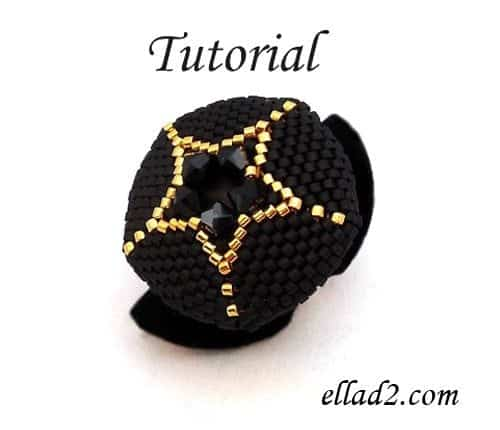 Beading Tutorial Beaded-star-ring