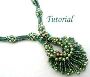 Beading Tutorial Peacock Necklace
