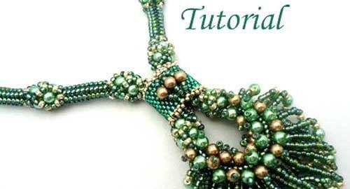 Beading Tutorial Peacock Necklace
