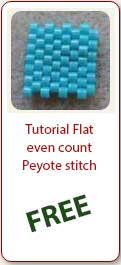 Free Beading Tutorial Flat Even Peyote Stich- Ellad2