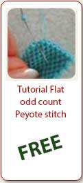 Free Tutorial Flat Odd Peyote Stitch - Ellad2
