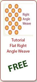Free beading Tutorial Flat Right Angle Weave - Ellad2