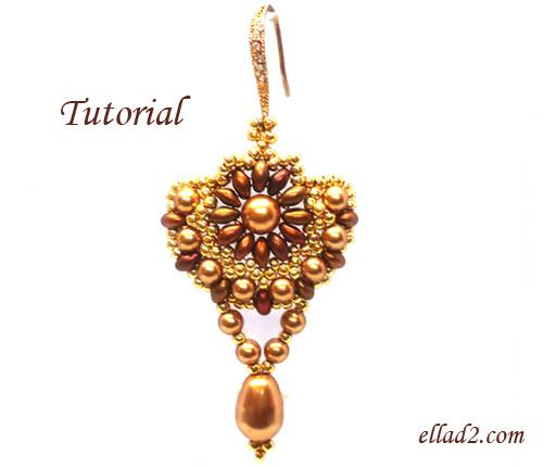 Beading Tutorial Sunflower Earrings