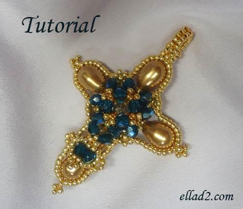 cross pendant beading tutorials and patterns by ellad2