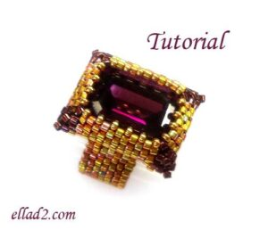 Beading Tutorial Fancy Rectangle Ring