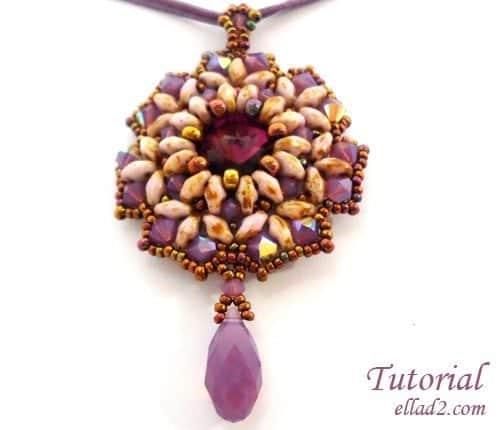 Beading Tutorial-Maho-pendant