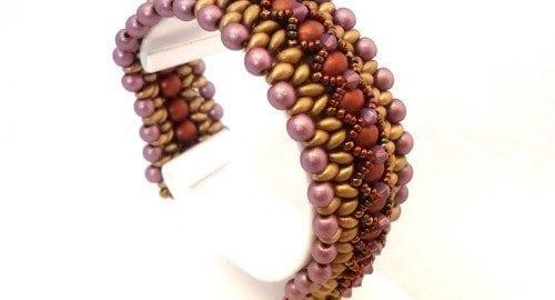 Beading Tutorial-Twin-X-bracelet