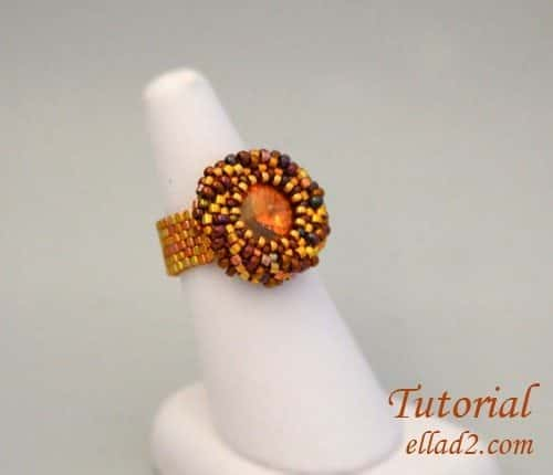 beading tutorial lets twist again ring by Ellad2