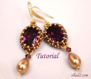 Beading tutorial Aurora Earrings by Ellad2