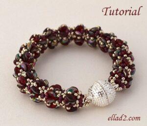 Beading Tutorial Merlot Bracelet by Ellad2