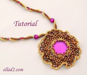 Beading Tutorial Sunset Magic Necklace by Ellad2