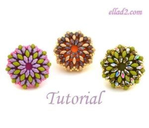 Beading tutorial Super Cocktail Ring by Ellad2