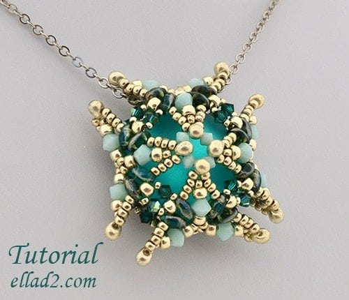 Beading pattern Luna Square Pendant by Ellad2