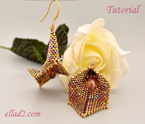 Beading Tutorial Lilly Earrings -Ellad2