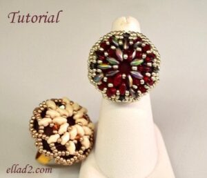 Beading Pattern Super Cocktail Ring by Ellad2