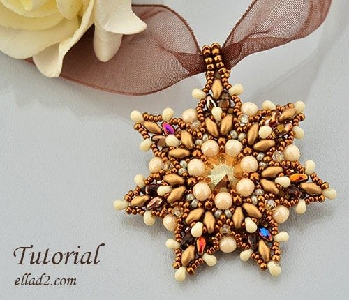Beading Tutorial Super Star Pendant by Ellad2