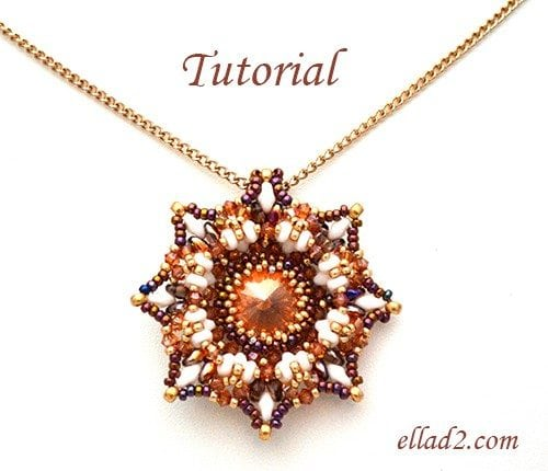 Beading Tutorial Calabash Pendant by Ellad2