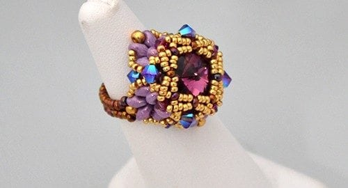 Beading Tutorial Ring Grand Anse by Ellad2