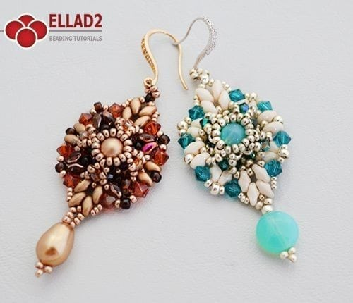 Free Beading Tutorial Laila Earrings by Ellad2
