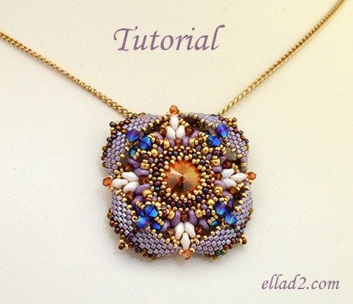 Beading tutorial Pendant Eterno by Ellad2
