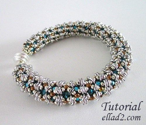 Beading Tutorial O-Bracelet by Ellad2