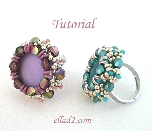 Beading Tutorial Pinch Ring by Ellad2