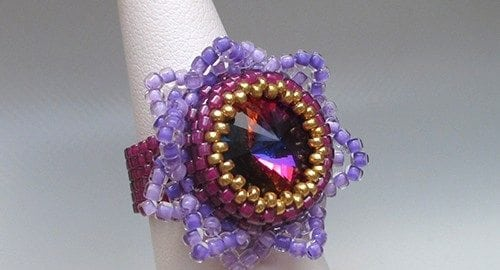 Beading Pattern Starlight Ring by Ellad2