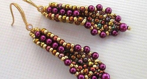 Beading Tutorial Banita Earrings