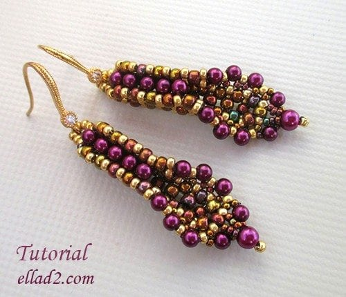 Beading Tutorial Banita Earrings