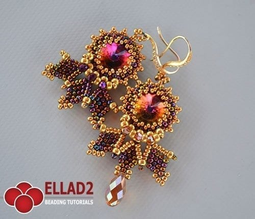 Beading tutorial Cleo earrings