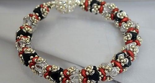 Triangulum Bracelet - Ellad2 Beading Pattern